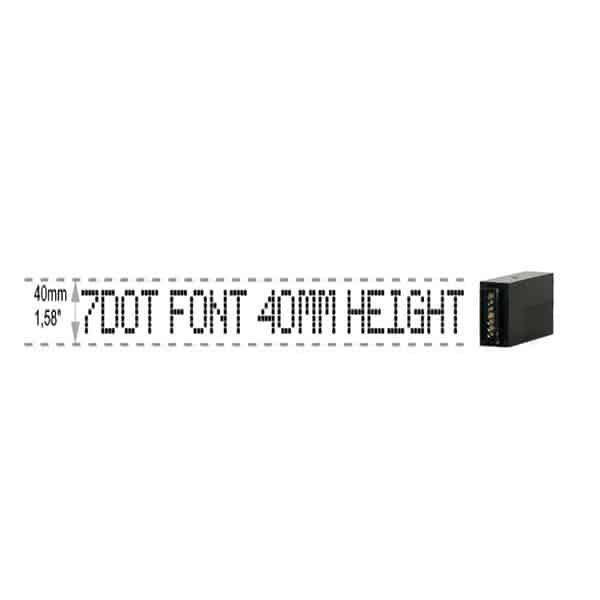 Z402 7-Dot Schreibkopf Großschriftdrucker Muster 4   MSM Markiersysteme