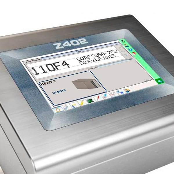 Z402 Großschriftdrucker 7-16-Düsen Menue   MSM Markiersysteme