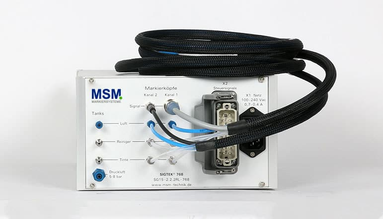 SG15 02a Rackgehaeuse Farbmarkiersystem| MSM Markiersysteme Kennzeichnungssysteme