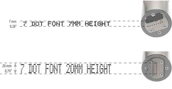 Z101-Lite Großschriftdrucker 7-Düsen Schrift 1 | MSM Markiersysteme